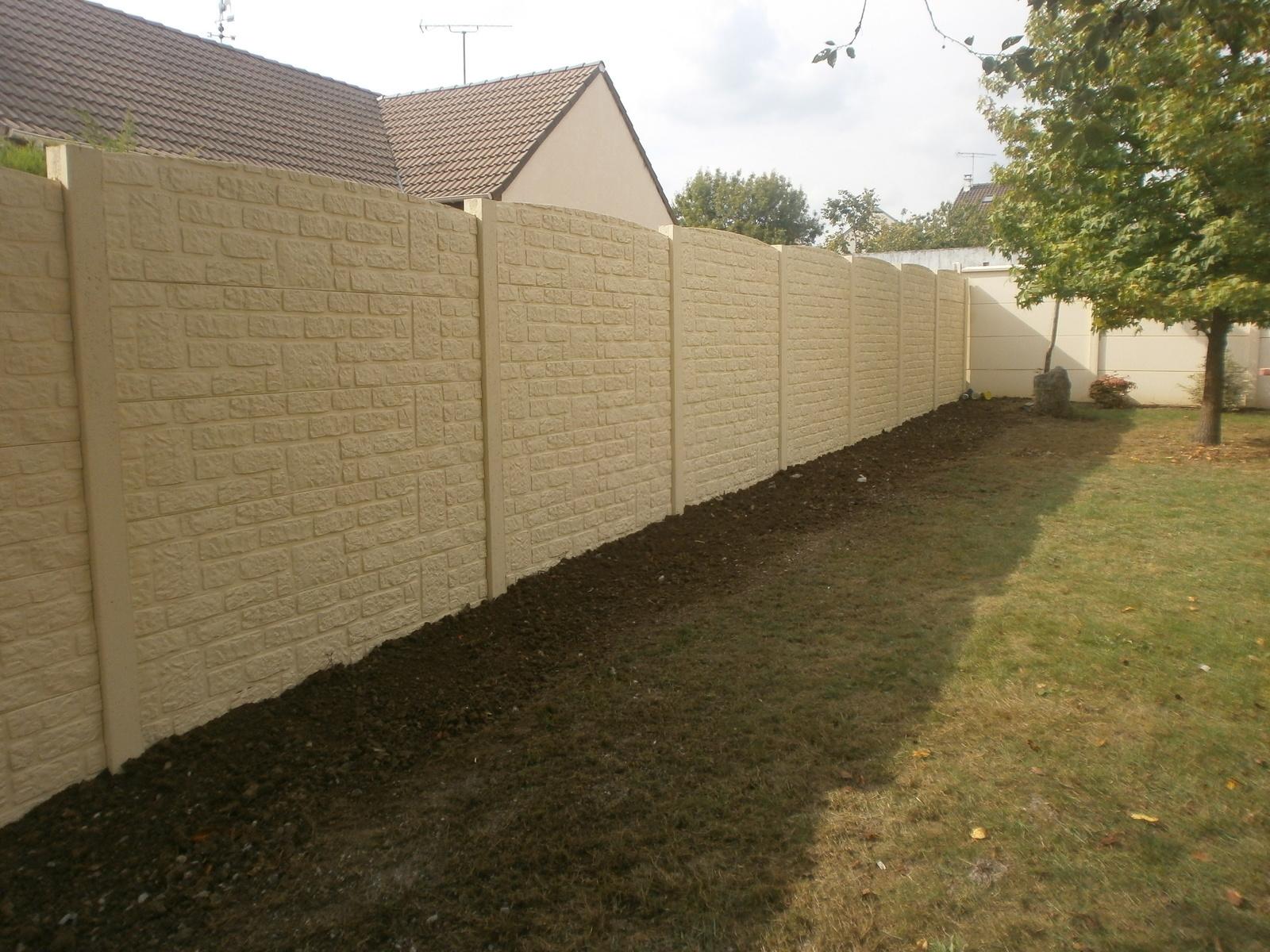 Prix D Un Mur De Cloture En Plaque De Beton plaque béton clôture eure : palissade béton - entreprise lecœur